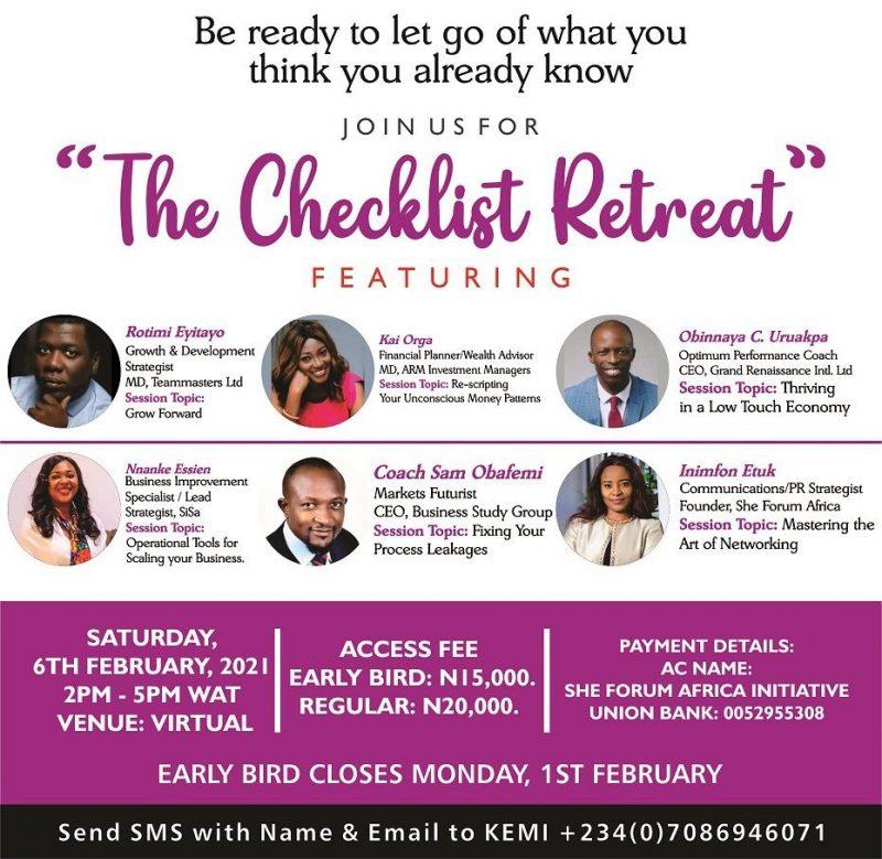 The checklist retreat